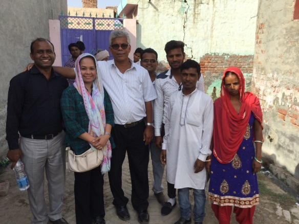 Ptr. Marissa (2nd from left), Ptr. Itty (3rd from left) with FGAI pastors in India (April 2016)